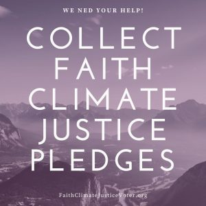 Collect Faith Climate Justice Pledges